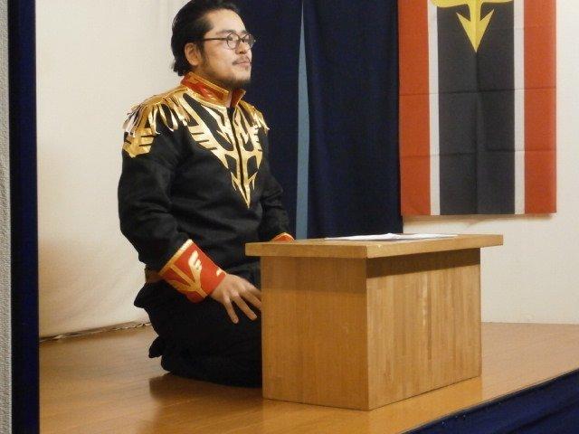 「ガンダムUC講談会4」より、グンジ総帥のジオン訛りでフルフロンタルを。ジオン訛りが福島弁だったら、という会話劇。お隣の