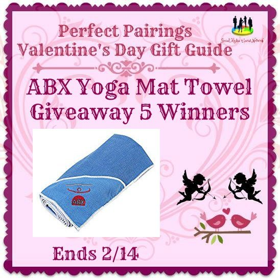 ABX Yoga Mat Towel Giveaway 5 Winners Ends 2/14 @Supergirldoyoga #SMGN