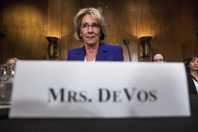 Betsy DeVos' nomination as Secretary of Education is a threat to Black students and educational equity: https://t.co/4HoK6BbzTj