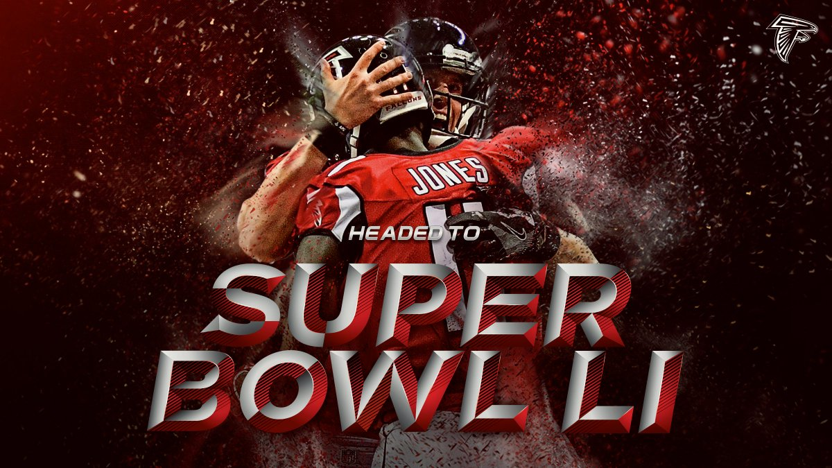 RT @AtlantaFalcons: Your Atlanta Falcons are Super Bowl bound!  #RiseUp https://t.co/i2P8uH9Zcu
