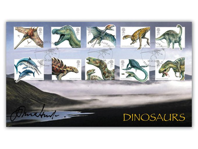 Happy 77th Birthday to John Hurt! He signed our fantastic Dinosaurs cover in 2013