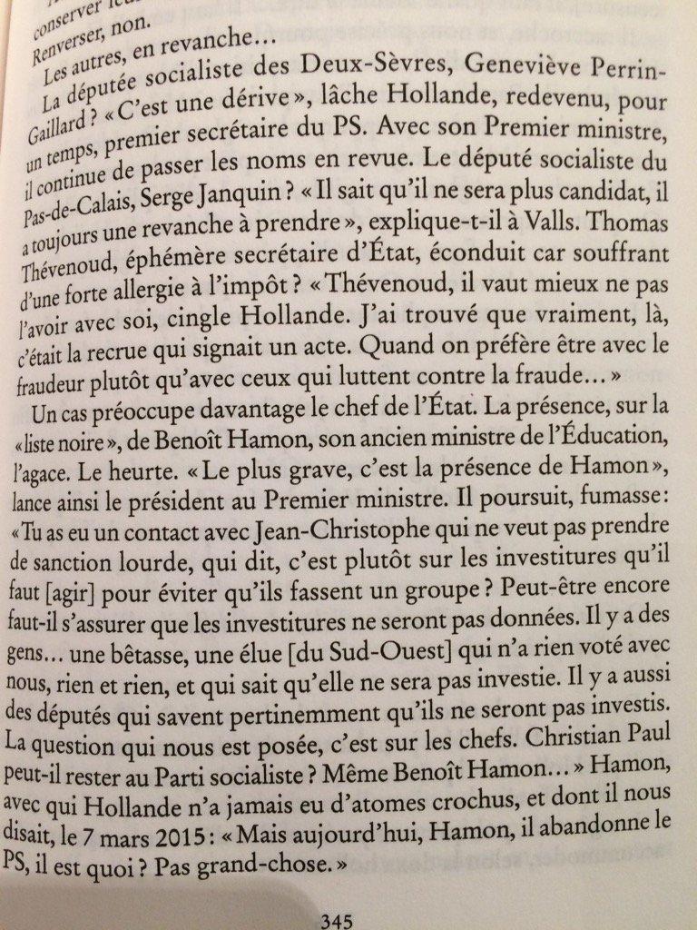'Hamon, il est quoi? Pas grand chose'. François Hollande in 'un Président ne devrait pas dire çà' #DavetLhomme#bible