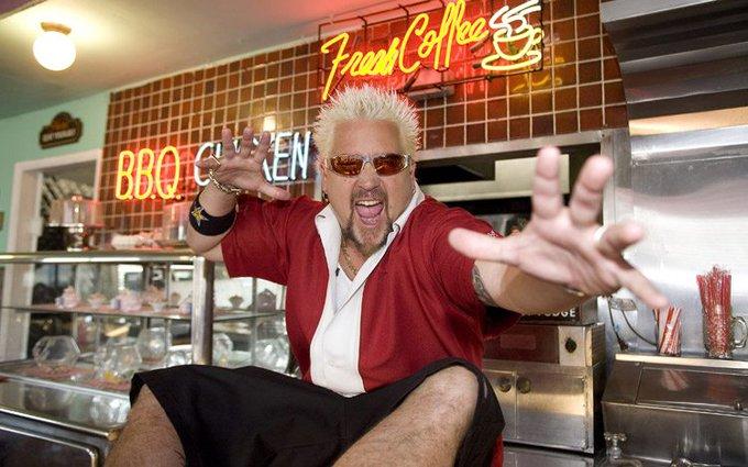 Yeah, he\s been in a few diner\s... Happy Birthday Guy Fieri!