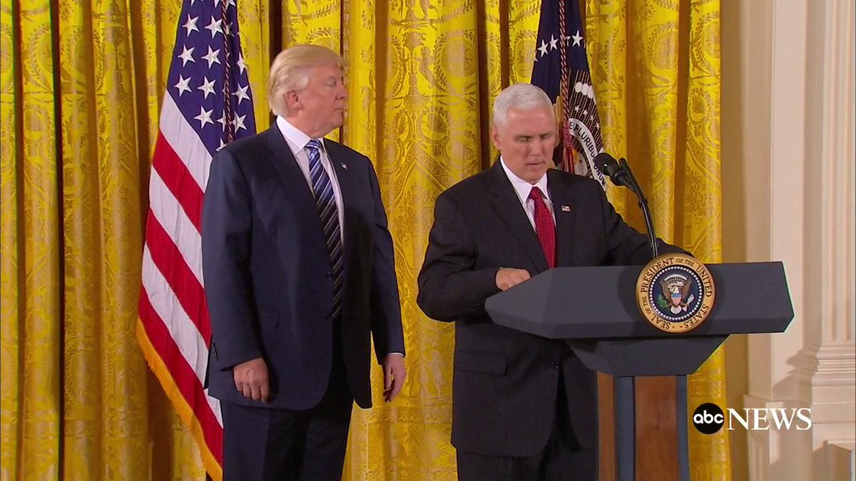 Vice President Mike Pence administers oath of office to senior White House staff https://t.co/IFUsVC9Yqi