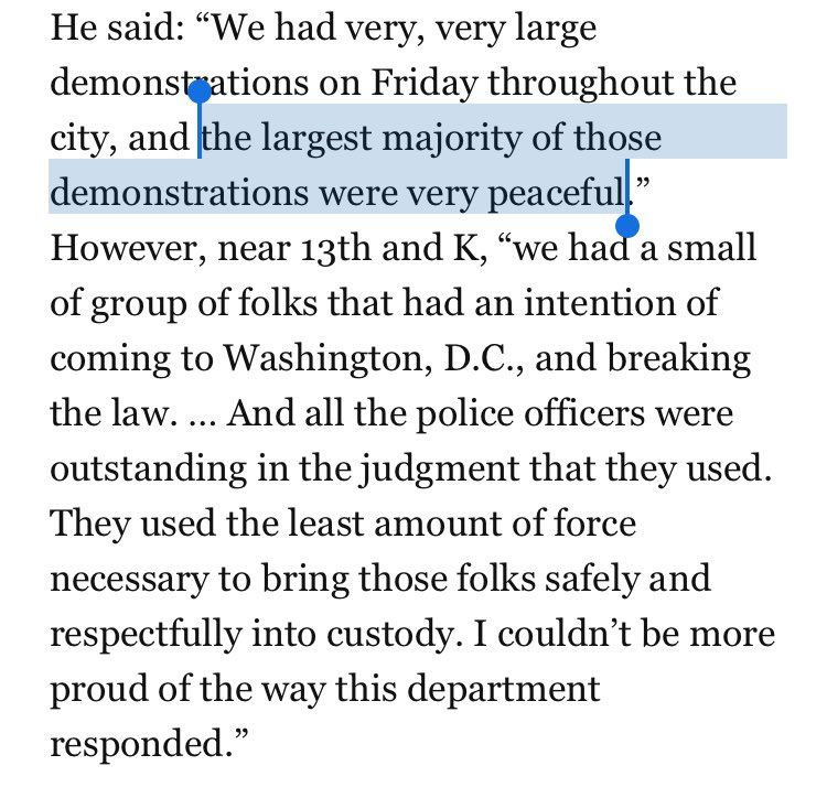 .@DCPoliceDept chief again emphasizes that the overwhelming majority of Inauguration Day protests were peaceful https://t.co/3BOJtdifNR