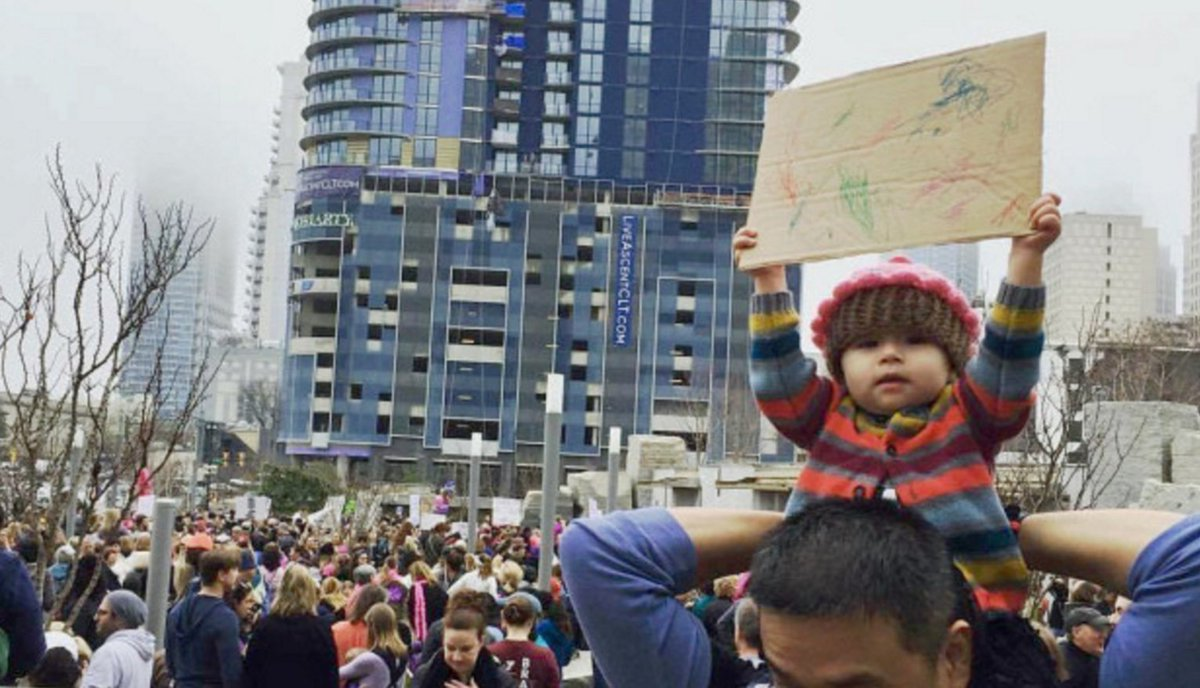 People Can't Deal With This Cute Toddler and Her Women's March Sign https://t.co/NYKN50k5gI