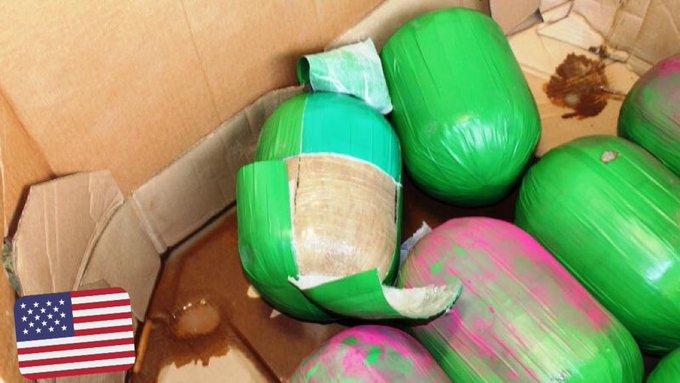 3000 livres de marijuana déguisés en pastèque découverts au #Texas par les douanes américaines via @SACNSNew