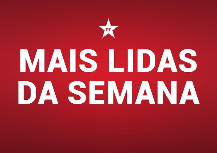 #MaisLidasDaSemana - Lula: 6º Congresso deve fazer com que o povo volte a ter esperança no PT: https://t.co/MQ7wcq2KQ7