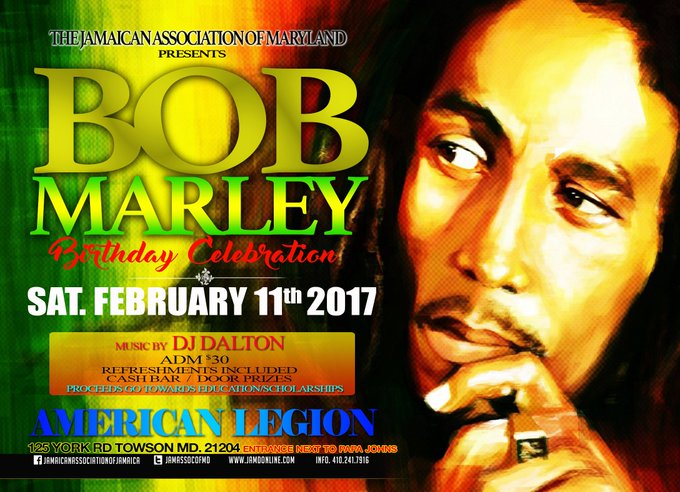 Happy 72nd birthday, Bob Marley! JAM will celebrate you this coming weekend!