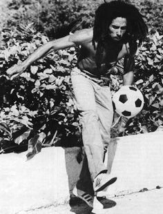 Happy Birthday Bob! Bob Marley 6.2.45 - 11.5.81 Here he is doing what he loved most...