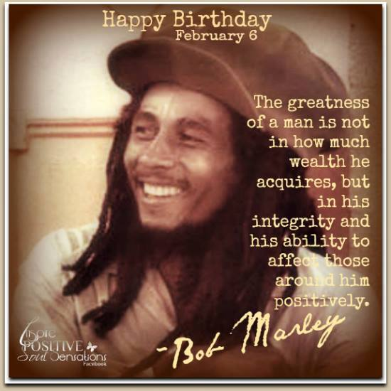 Happy Birthday, Bob Marley would be 72 today