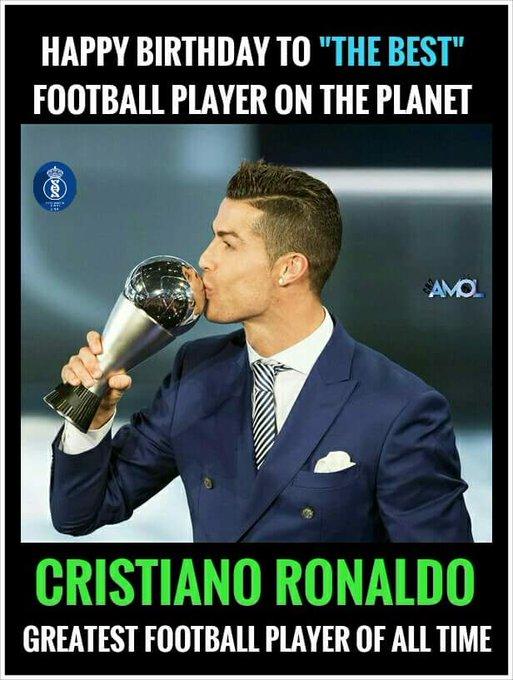 Happy 32nd Birthday to king Cristiano Ronaldo