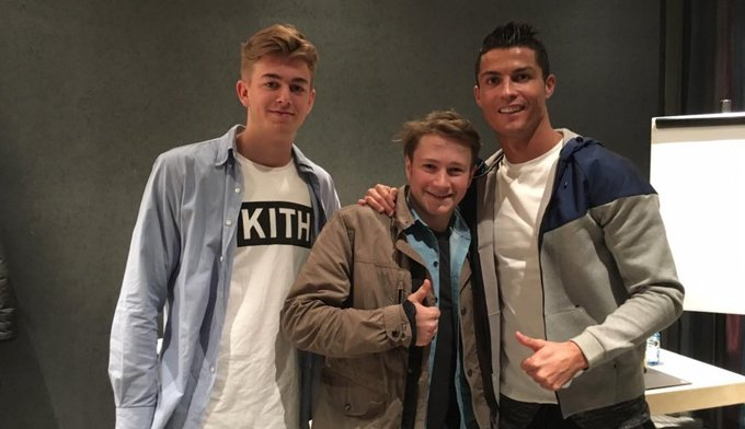 Happy Birthday Ronaldo! Sam and his friend cheering Cristiano on in Madrid is the epitome of squad goals.