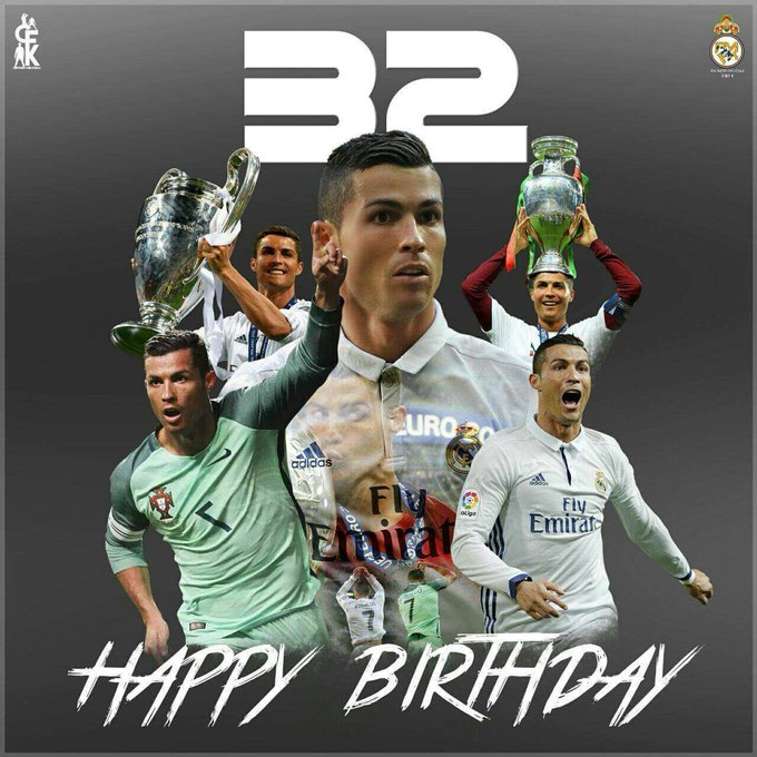 Happy Birthday Day Ronaldo      The K7ng of Football...  One of the best of all time