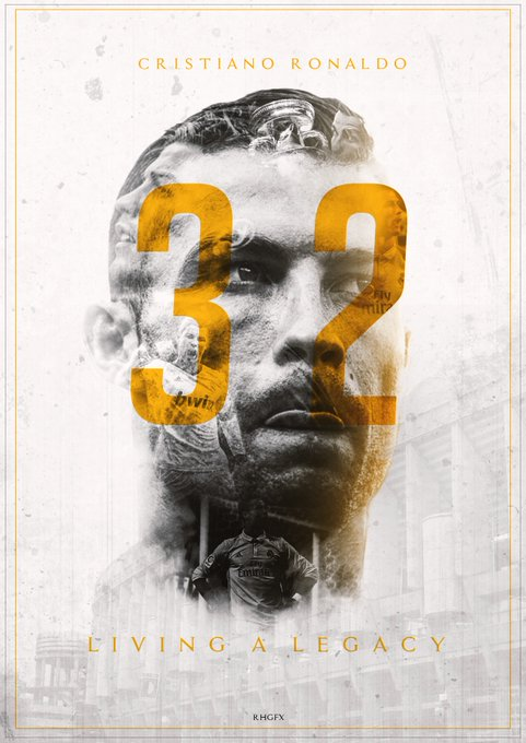 "Happy 32nd birthday ""Cristiano Ronaldo\""-CR7"