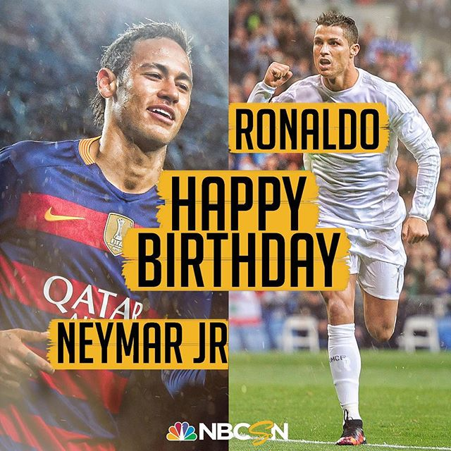 Happy Birthday Neymar & Cristiano Ronaldo ...