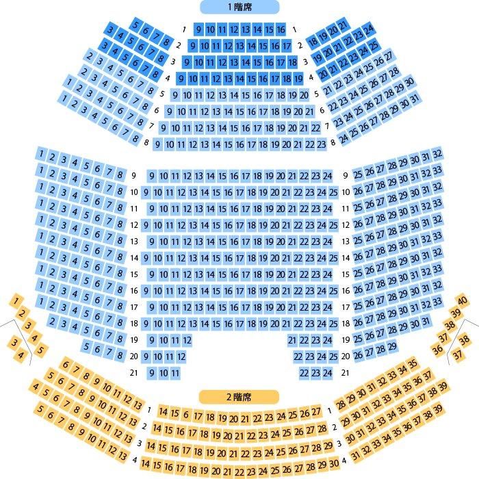 【TVアニメ「タブー・タトゥー」スペシャルイベント】本日2/5公演のホール座席表をチェック シアター1010(劇場/70