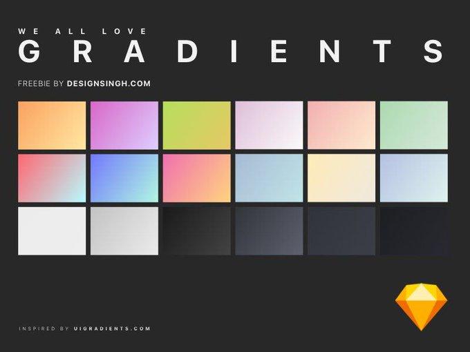 Gradient Love   Template by DesignSingh freebie