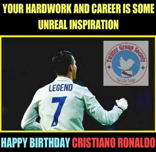 Happy Birthday Ronaldo (CR7).