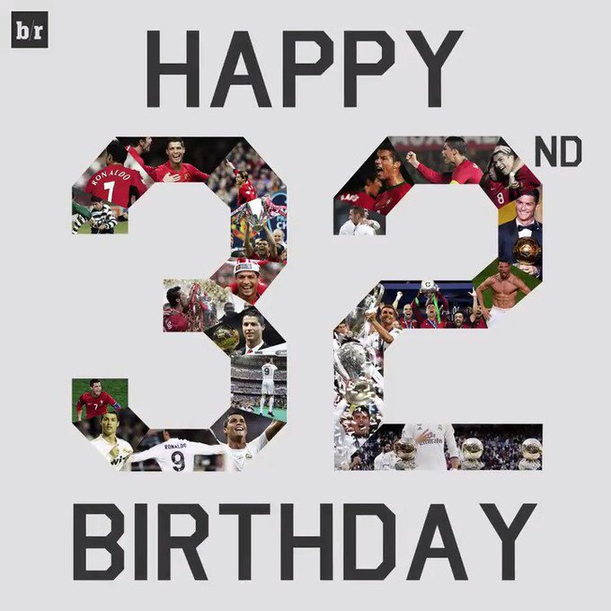 Happy 32nd birthday, Cristiano Ronaldo!