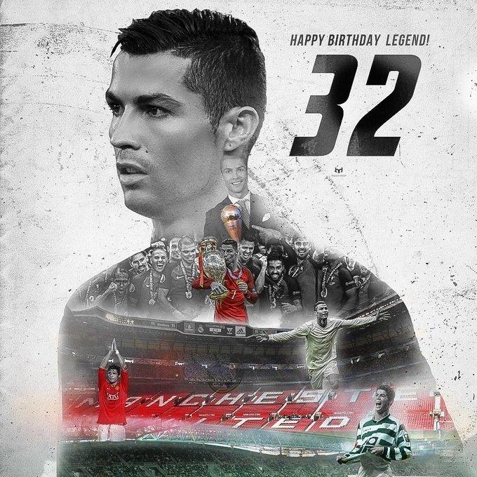Happy birthday Cristiano Ronaldo 32 , obrigado por tudo parabéns estaremos sempre ao seu lado !!!!!