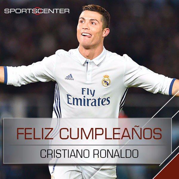 ¡Feliz cumple, Cristiano! Ronaldo celebra 32 años de una vida llena de éxitos. ¡Dale un RT si crees que es el mejor jugador del mundo! https://t.co/w9JHOuPTPz
