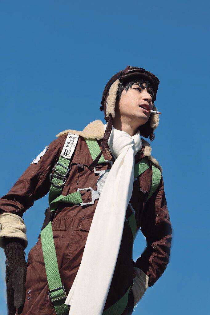 【コス写:ドリフターズ】-それは、透き通った青空の日だった-菅野直→修也photo by takumiさんスタジオ :