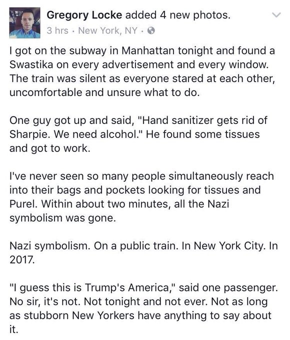 @hollymadison: RT @Nerktwin: NEW YORK CITY will have none of this. We will always #resist ?? https://t.co/74nOmyAXtB