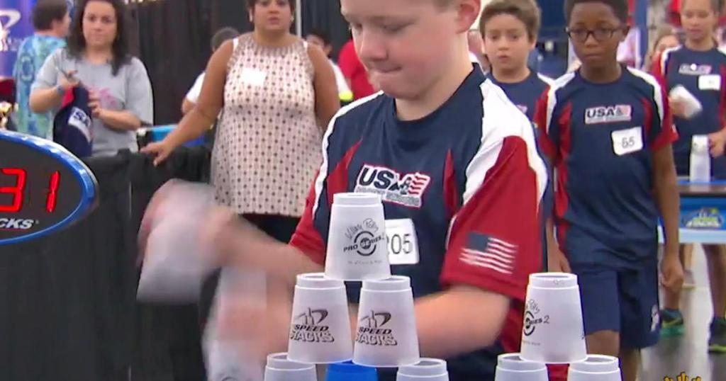 Meet the competitive cup stackers who are headed to the Junior Olympics