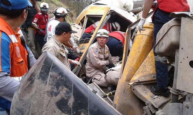 Unos 20 muertos y 40 heridos en accidente en Honduras