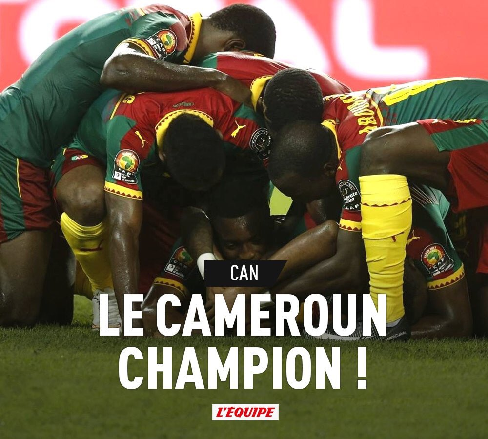 Bu arada atlamayalım.. Abuobakar'ın golüyle Kamerun Afrika Uluslar Kupası'nı kazandı.. Tebrikler! https://t.co/wsTSn5gMQR