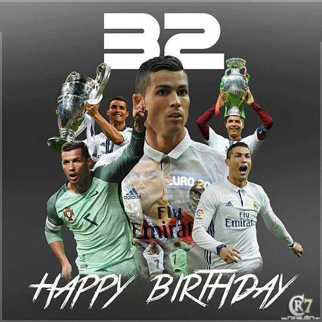 Happy Birthday Cristiano Ronaldo! The Portuguese star turns 32 today.