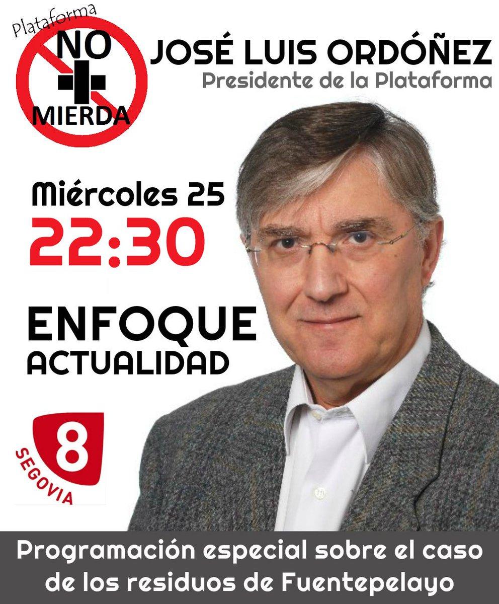 RT @IU_CUELLAR: Hoy,a las 22.30 en teleSegovia nuestro compañero @jlordoniez1 de la plataforma @NO_MASMIERDA https://t.co/gsGhLe9e2d