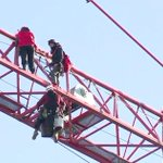 Watch Live: Protesters climb crane blocks from the White House