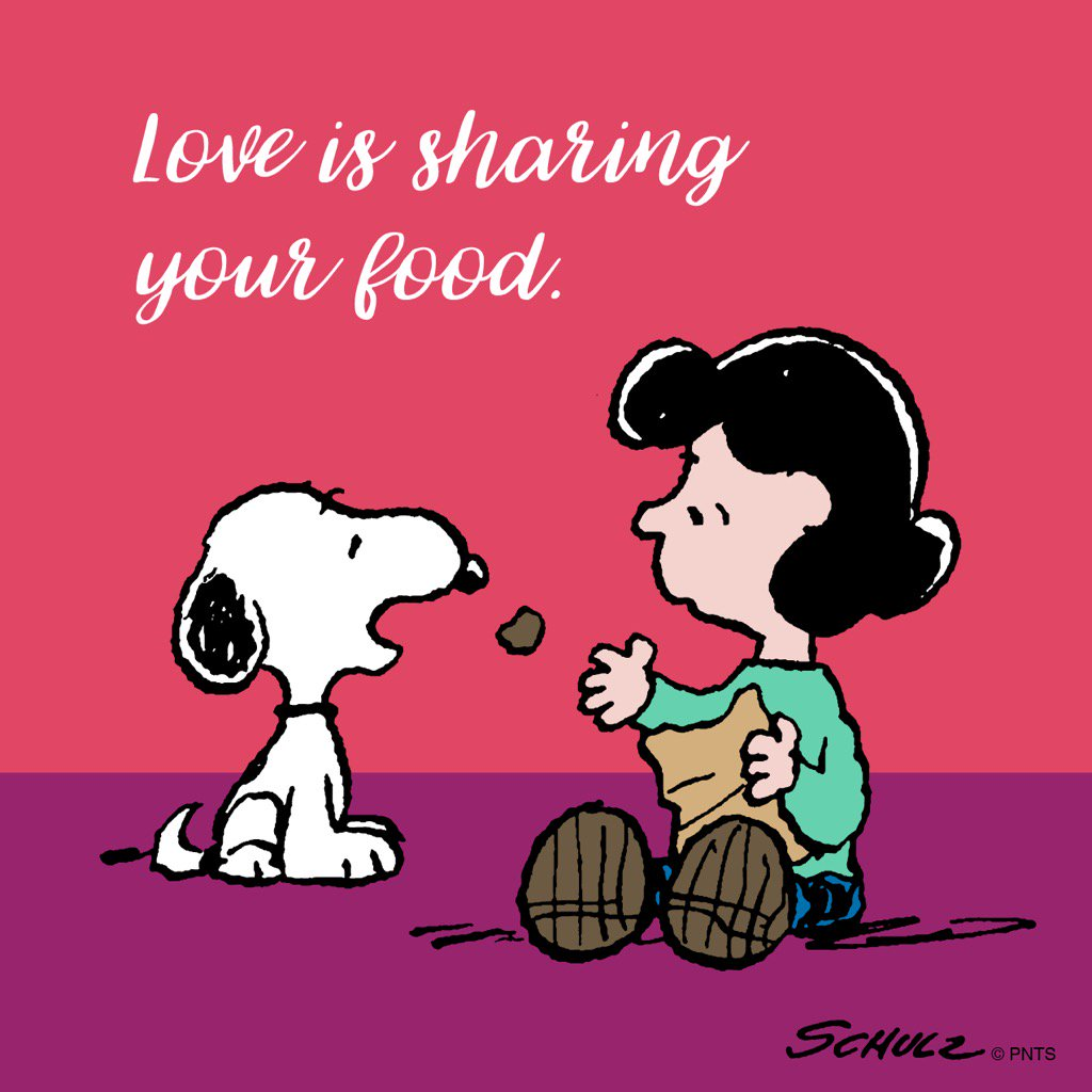 Love is sharing your food 🍕🍪🍔 https://t.co/Bf1bpACVI3