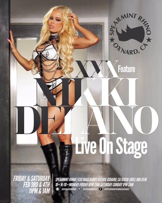 Meet me live next week here in LA Feb 3 & 4th at @OxnardRhino @rhinoclubs for some naughty fun #feature
