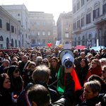 Quake survivors protest in Rome as avalanche toll hits 24