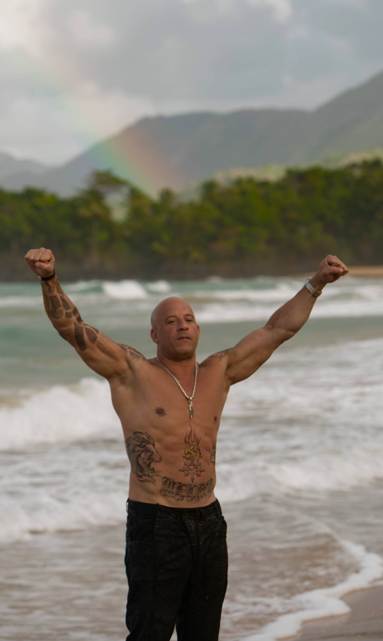 Вин дизель фото с пляжа