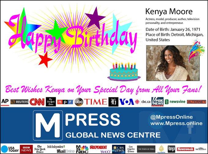 Happy Birthday Kenya Moore Mpress Global News Centre