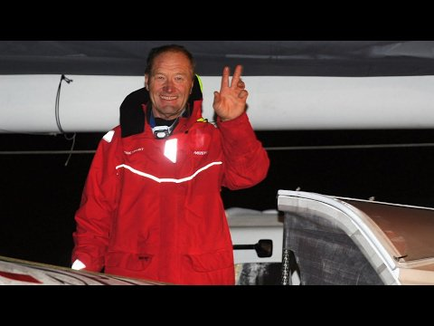 VIDEO -  Sports: French skipper Francis Joyon sails around the world in record 40 days