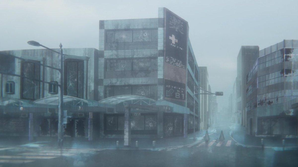 【 #planetarian 聖地巡礼スポット・有楽街南側入口】ビオラ田町前から見るとこんな感じでしょうか。渥美薬局…特