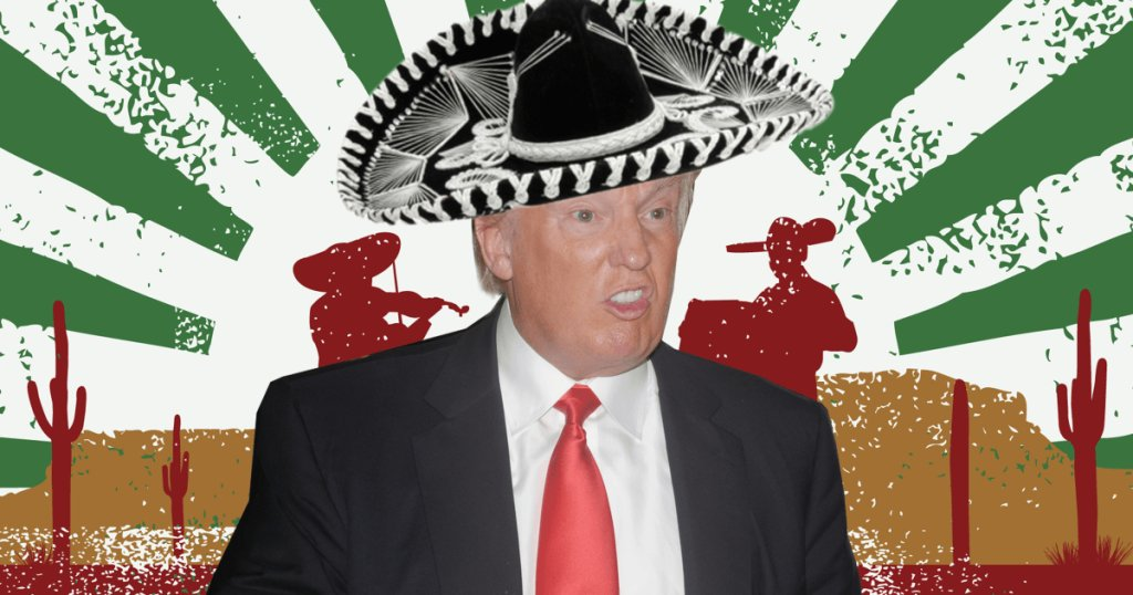 I do hope that the Mexicans dance on HIS hat.  His $15b wall sounds as unreliable a solution as Trident missiles. https://t.co/veUU4dBdRO
