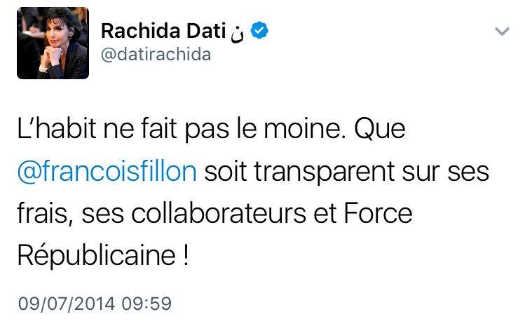 Ce tweet de 2014 de #Dati sur #Fillon ne vieillit pas. #PenelopeFillon