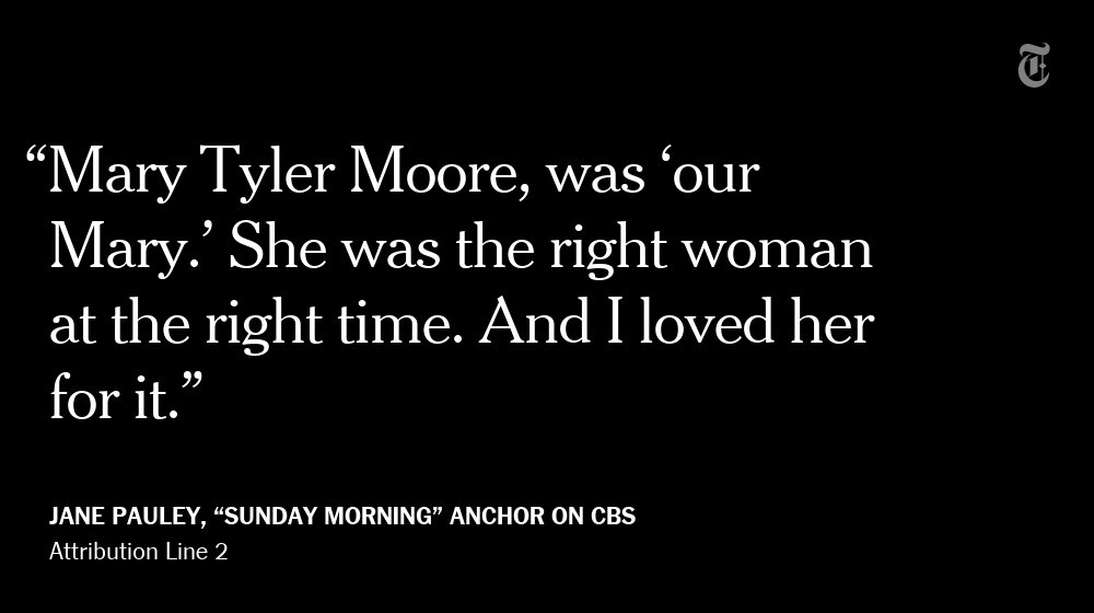 """Sunday Morning"" anchor Jane Pauley remembers Mary Tyler Moore as the ultimate role model"