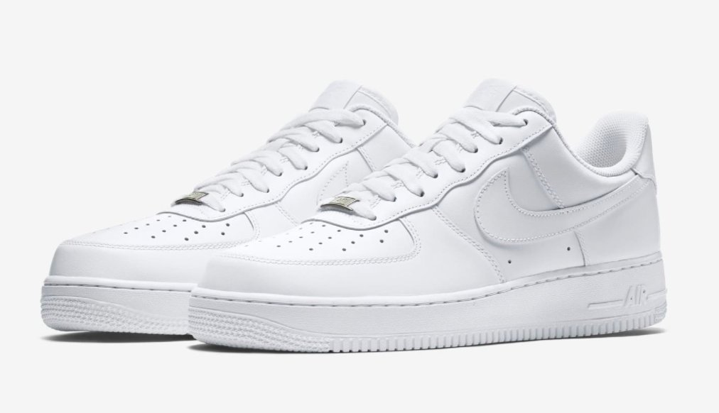 white nike air force ones low