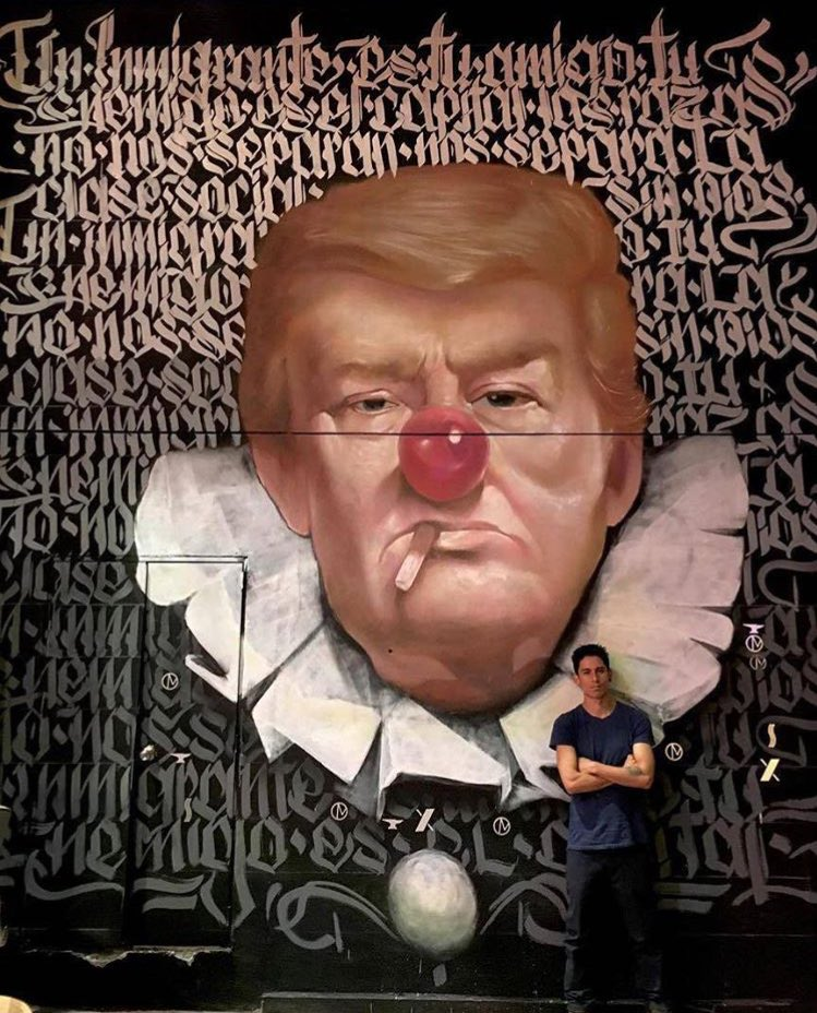 #Trump Street Art by Ramsteko found in México City   #art #arte #mural #trump