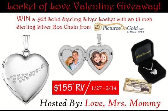 Locket of Love Valentine Giveaway! $155+ RV!