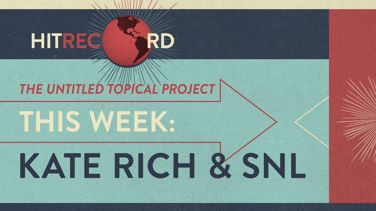 RT @hitRECord: And the topic for this week is... https://t.co/59uyyxPSKN https://t.co/Q7ymPZiA5w