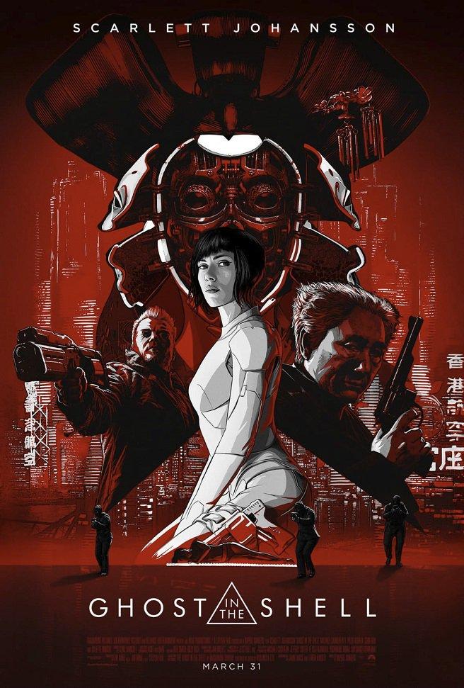 「攻殻機動隊」をハリウッドが本気実写化する映画「ゴースト・イン・ザ・シェル」の最新ポスターが公開。ヒロインを演じるスカー