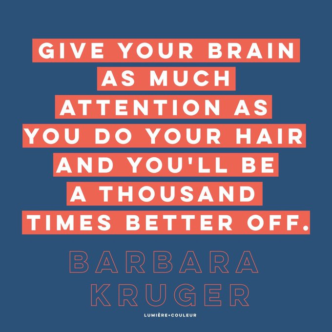Happy birthday to American artist & feminist Barbara Kruger, born on this day in 1945